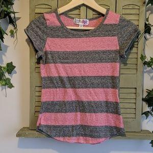 Derek Heart girls striped tee shirt
